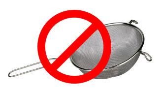Wij adviseren niet te metalen gebruiksvoorwerpen gebruiken terwijl het maken van kefir